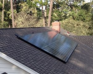solar panels flush against the roof